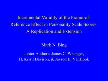 Incremental Validity of the Frame-of-Reference Effect in ... - IPAC
