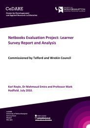 Learner Survey Report and Analysis - University of Wolverhampton