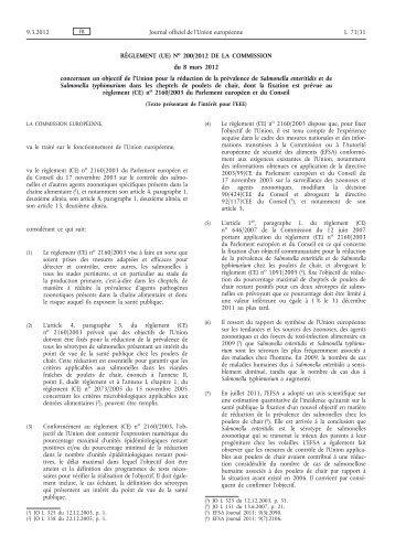 Règlement (UE) no 200/2012 de la Commission du 8 ... - EUR-Lex