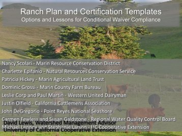 Ranch Plan and Certification Templates - State Water Resources ...