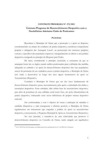 contrato programa nº. 272/2012 - Câmara Municipal de Oeiras