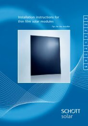 Installation instructions for thin film solar modules - Mare Solar