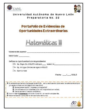 CAPÍTULO 1 FUNCIONES Y RELACIONES - Preparatoria 22