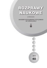 Rozprawy Naukowe 40 - Akademia Wychowania Fizycznego we ...