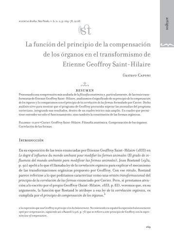 La función del principio de la compensación de los órganos en el ...