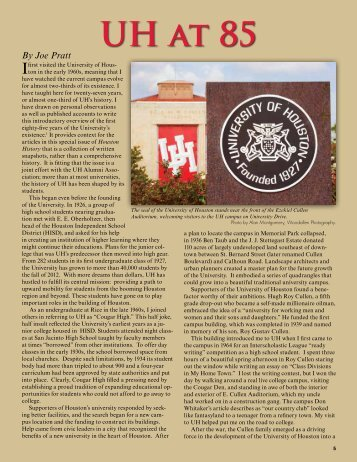 to view a PDF of the full article - Houston History Magazine
