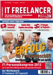 IT Freelancer Magazin Nr. 2/2013
