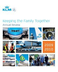 Keeping the Family Together 2009 2010 - KLM Takes Care
