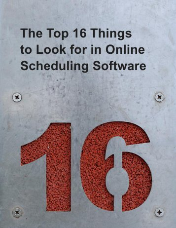 The Top 16 Things to Look for in Online ... - Appointment-Plus