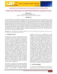 Analysis the Performance of Coded WSK-DWDM Transmission ...