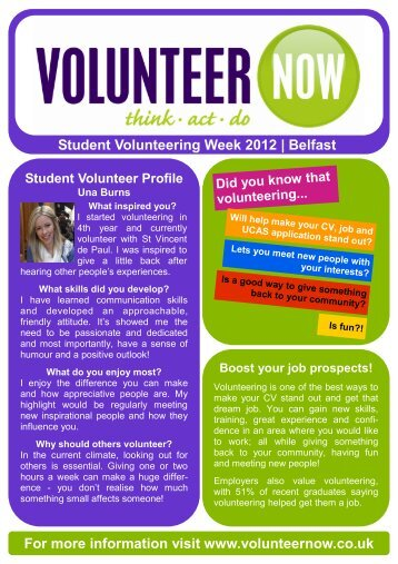 SVW 2012 - Belfast - Volunteer Now