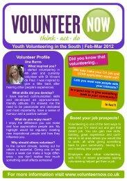 Feb-Mar 2012 - Volunteer Now