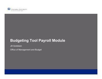 Payroll Training: May 2017