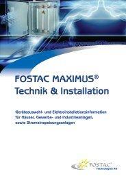FOSTAC MAXIMUS® Technik & Installation ... - electroncentrum