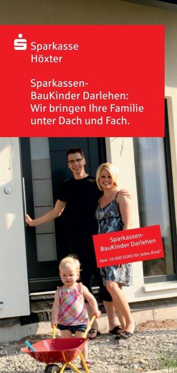 Sparkassen-BauKinder Darlehen
