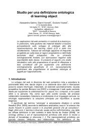 Studio per una definizione ontologica di learning ... - Didamatica 2010