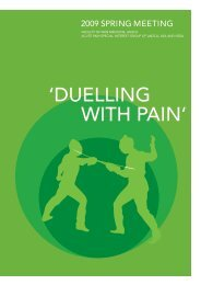 duelling with pain - Faculty of pain medicine - Australian and New ...