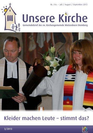 Unsere Kirche 3/2013 Juli bis September - Evangelische ...