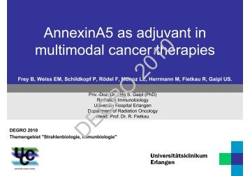 AnnexinA5 as adjuvant in multimodal cancer therapies - Wcenter.de