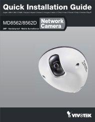 Vivotek MD8562 Quick Installation Guide - Use-IP