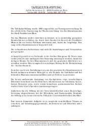 Informationen zur Tafelkulturstiftung - Goethe-Universität
