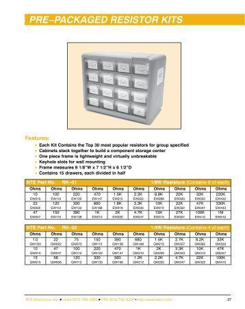 Resistor Kit - NTE Electronics