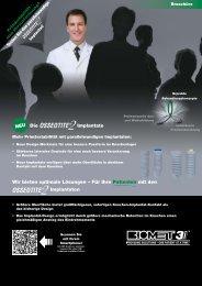 Die OSSEOTITE ® 2 Implantate - BIOMET 3i Allbiomet3i.ch