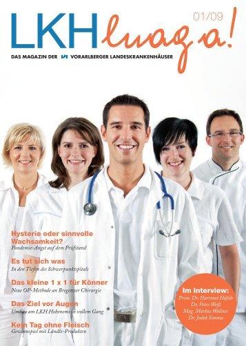 Hysterie oder sinnvolle Wachsamkeit? - Landeskrankenhaus Bregenz