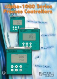 alpha 1000 Series Controller/Transmitter - Eutech