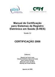 Manual de Certificação para Sistemas de Registro Eletrônico - SBIS