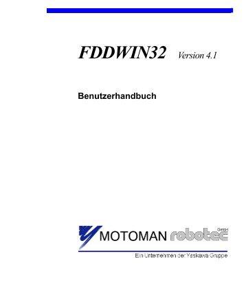 FDDWIN32 Version 4.1 - Motoman