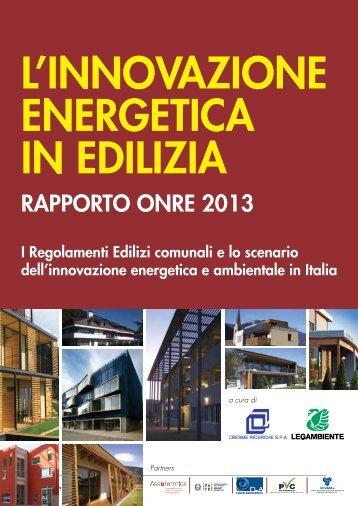 Rapporto ONRE - Sportello Fonti rinnovabili