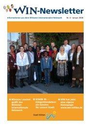 Newsletter Nr. 4 - Wittener Internationales Netzwerk (WIN)