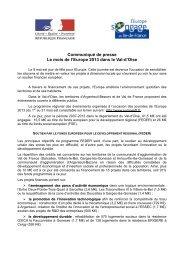 CP semaine Europe 2013 - Les services de l'État dans le Val-d'Oise