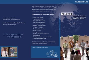 METHODS - Dr. Alexander Loch, Training-Consultancy-Research