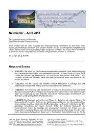 Newsletter - Wirtschaftswissenschaftliche Fakultät - Universität Passau