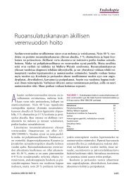 Ruoansulatuskanavan äkillisen verenvuodon hoito - Duodecim