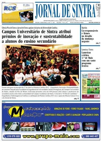 Campus Universitário de Sintra atribui prémios de ... - Jornal de Sintra