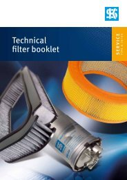 Technical filter booklet - Part Info