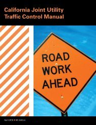 California Joint Utility Traffic Control Manual - National Work Zone ...