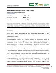Progesterone for Prevention of Preterm Birth - MCS a