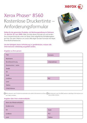 8 free Magazines from XEROX.DRUCKER.DE