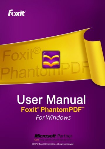 Foxit PhantomPDF User Manual - Parent Directory