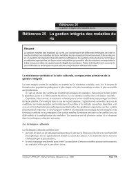 Référence 25 La gestion intégrée des maladies ... - Africa Rice Center