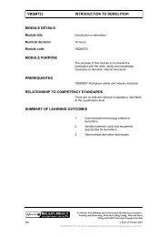 VBQM723 INTRODUCTION TO DEMOLITION MODULE ... - TLS