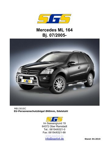 Mercedes ML 164 Bj. 07/2005- - SGS