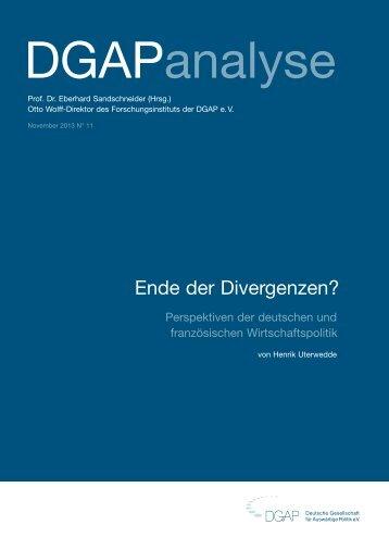 Ende der Divergenzen? - Deutsche Gesellschaft für Auswärtige ...