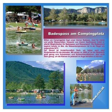 Baden am Campingplatz - Camping Rosental Roz