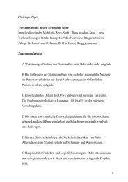 Christoph Zöpel Verkehrspolitik in der Metropole Ruhr Impulsreferat ...
