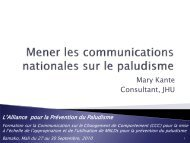 5.Mener les communications nationales - The Alliance for Malaria ...